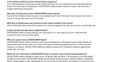 HEATSCOPE® Radiant Heaters FAQ